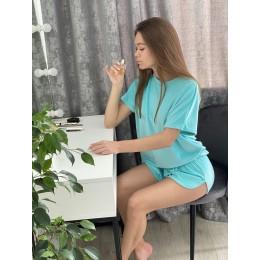 Женская тёплая велюровая пижама 091 тифани