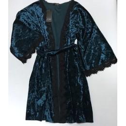 Женский велюровый халат 007\1 волна
